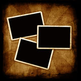Blank photo frames on wall Royalty Free Stock Images
