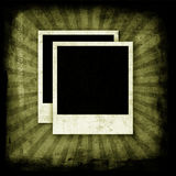 Blank photo frames on wall Royalty Free Stock Photography