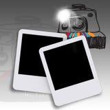 Blank photo and hand drawn camera Stock Photo
