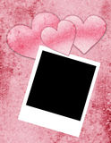 Blank Photo with Hearts Stock Photo