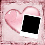 Blank Photo with Hearts Stock Photography