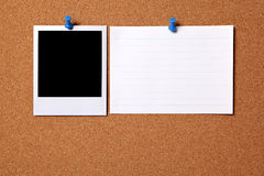 Blank polaroid photo frame index card copy space Royalty Free Stock Images