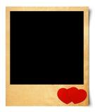 Blank photo isolated valentine background. Vintage style Vector Illustration