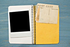 Blank Photo Notebook Stock Photo