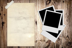 Blank photo and old poster royalty free stock image