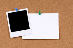 Polaroid frame blank index card copy space Royalty Free Stock Photos