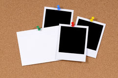 Polaroid frame photo prints blank index card copy space Royalty Free Stock Image