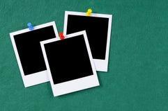 Polaroid photo frames notice board copy space Royalty Free Stock Photography