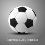 Blank photo realistic isolated on grey football. Ball, for branding and your design. Vector illustration Stock Photos