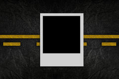 Blank photo on road pattern Royalty Free Stock Photo