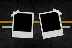 Blank photo on road pattern Royalty Free Stock Image