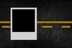 Blank photo on road pattern Stock Image