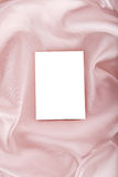 Blank photo on silk. Blank photo on pink silk. There is a space for your photo or text Royalty Free Stock Photo