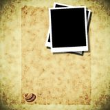 Blank photo templates with old paper Stock Photo