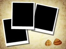 Blank photo templates with old paper Royalty Free Stock Images