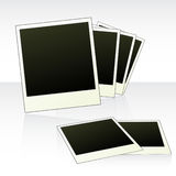 Blank photograph papers Stock Photo