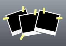 Blank Photos. Vector illustration of vintage blank photos Royalty Free Stock Photo