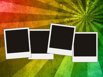 Blank photos. On colorful vintage background Stock Image