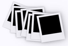 Blank photos. Isolated on white Stock Images