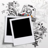 Blank photos. And doodle art Stock Photography