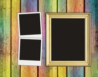 Blank photos and frame Royalty Free Stock Photo