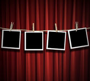 Blank photos hanging Royalty Free Stock Images