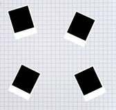Blank photos on a squared sheet Royalty Free Stock Photos
