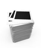 Blank photos stack Royalty Free Stock Image