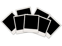 Blank Photos on White Royalty Free Stock Photo