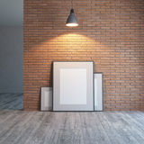 Blank picture on the brick wall Royalty Free Stock Photo