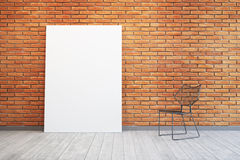 Blank picture and chair in the room Stock Images