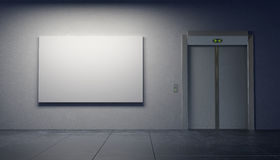 Blank picture in the elevator's hall Royalty Free Stock Images