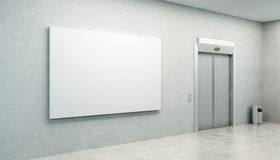 Blank picture in the elevator's hall Stock Photo