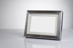 Blank picture frame with clipping path royalty free stock image