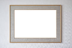 Blank picture frame hanging on wall Royalty Free Stock Photos