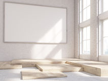 Blank picture frame Stock Image