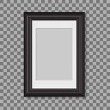 Blank picture frame for photographs. vector realisitc mockup. design template on transparent background royalty free illustration