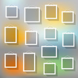 Blank picture frame set on blured background Royalty Free Stock Image