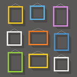 Blank picture frame set on the wall Stock Image
