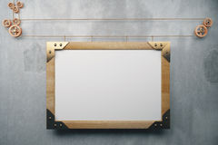 Blank picture frame in the style of steampunk Stock Image