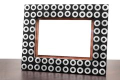 Blank picture frame on table Stock Photo