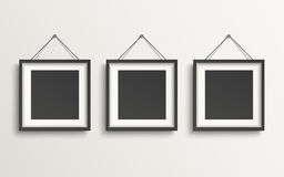Blank picture frame template set Royalty Free Stock Images