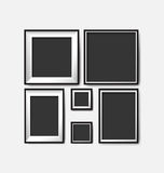 Blank picture frame template set Stock Photography