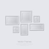 Blank picture frame template set  on wall Royalty Free Stock Photos
