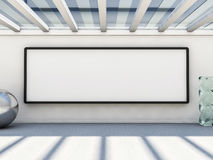Blank picture frame on a wall, mock up. 3D Royalty Free Stock Images