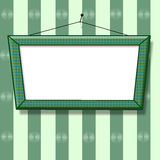 Blank picture frame on the wall old fashion Stock Photography