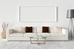 Blank Picture frame on the wall.  Royalty Free Stock Photos