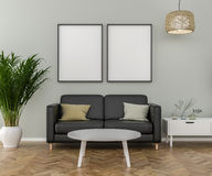 Blank Picture frame on the wall Royalty Free Stock Images