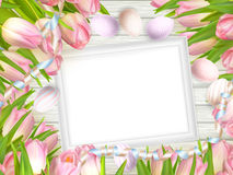 Blank picture frame on white. EPS 10 Stock Photography