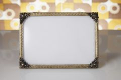 Blank picture frames, gold Royalty Free Stock Image